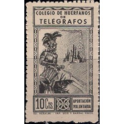 Colegio de Huérfanos de Telégrafos. 10 Céntimos (Usado)