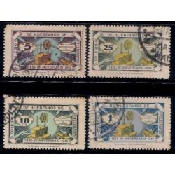 Colegio de Huérfanos de Telégrafos. 1943. Serie 4 Valores. 88º Aniv (Usado)
