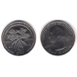 Estados Unidos de América. 2020(P). Quarter Dollar (SC) Salt River Bay
