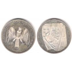 (176) Alemania. 1990(J). 10 Mark (EBC+) (Plata)
