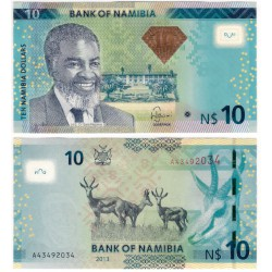(11b) Namibia. 2013. 10 Dollars (SC)