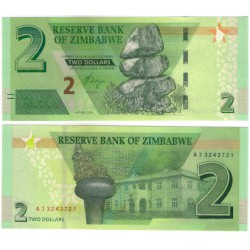 Zimbabue. 2019. 2 Dollars (SC)