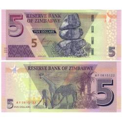 Zimbabue. 2019. 5 Dollars (SC)
