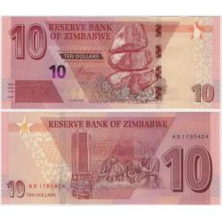 Zimbabue. 2020. 10 Dollars (SC)