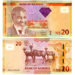(11b) Namibia. 2013. 20 Dollars (SC)