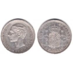 Alfonso XII. 1879*(18-79). 5 Pesetas (BC) (Plata) Ceca de Madrid EM-M