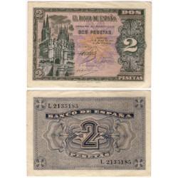 Estado Español. 1938. 2 Pesetas (MBC+)
