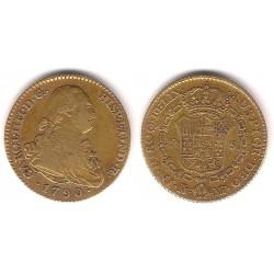 Carlos IV. 1790. 2 Escudos (MBC) (Oro) Ceca de Madrid MF