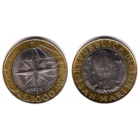 (395) San Marino. 1999. 1000 Lira (EBC)