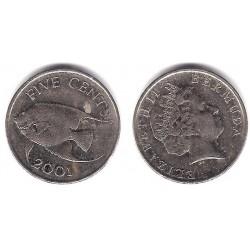 (108) Bermuda. 2001. 5 Cents (MBC)