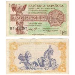España (II República). 1937. 1 Peseta (EBC) Serie B