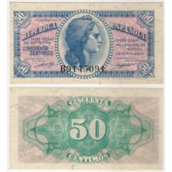 España (II República). 1937. 50 Céntimos (SC) Serie B