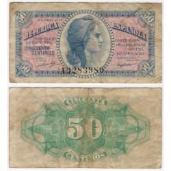 España (II República). 1937. 50 Céntimos (BC) Serie A