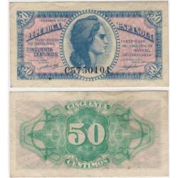 España (II República). 1937. 50 Céntimos (MBC+) Serie C