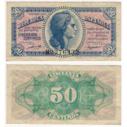 España (II República). 1937. 50 Céntimos (MBC) Serie B