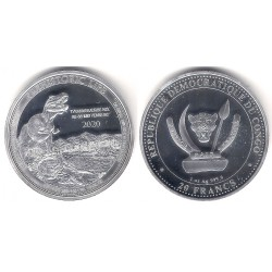 Congo. 2020. 20 Francs (Proof) (Plata)