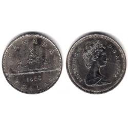 (120.1) Canadá. 1986. 1 Dollar (MBC)