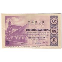 Décimo. 14 de Abril de 1965. Camino de Santiago, Silo de Carlomagno