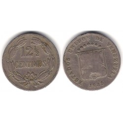 (Y30a) Venezuela. 1945. 12½ Céntimos (BC)