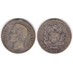 (Y23) Venezuela. 1936. 2 Bolivares (BC+) (Plata)