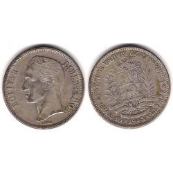 (Y23) Venezuela. 1945. 2 Bolivares (MBC) (Plata)