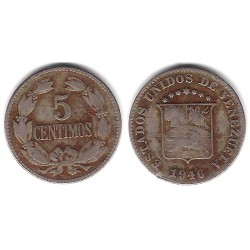 (Y29a) Venezuela. 1946. 5 Céntimos (BC)