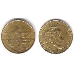 (313) San Marino. 1994. 200 Lira (MBC)