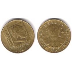 (356) San Marino. 1996. 200 Lira (MBC)