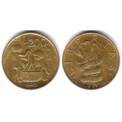 (329) San Marino. 1995. 200 Lira (MBC)