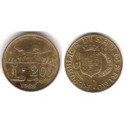 (238) San Marino. 1989. 200 Lira (MBC)