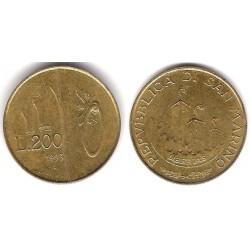(300) San Marino. 1993. 200 Lira (MBC)
