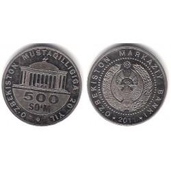 (34) Uzbekistán. 2011. 500 Som (EBC+)