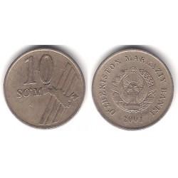 (14) Uzbekistán. 2001. 10 Som (BC+)