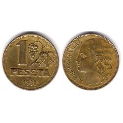 España (II República). 1937. 1 Peseta (MBC+)