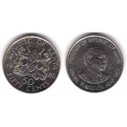 (19) Kenia. 1980. 50 Cents (SC)