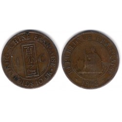 (1) Indochina Francesa. 1892. 1 Centime (BC)