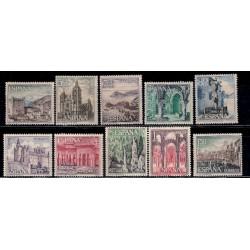 (1541 al 1550) 1964. Serie Completa. Paisajes y Monumentos (Nuevo, con marca de fijasellos)