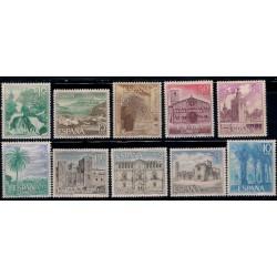 (1726 a 1735) 1966. Serie Completa. Turistica (Nuevo, con marcas de fijasellos)