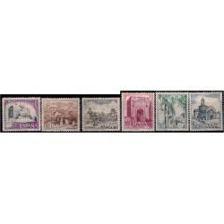 (2266 a 2271) 1975. Serie Completa. Turística (Nuevo, con marca de fijasellos)