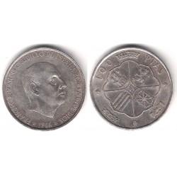 Estado Español. 1966*(19-67). 100 Pesetas (BC+) (Plata)