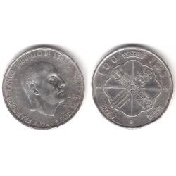 Estado Español. 1966*(19-68). 100 Pesetas (BC+) (Plata)
