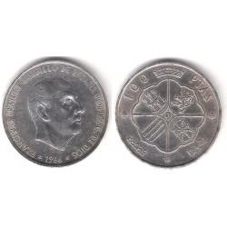 Estado Español. 1966*(19-68). 100 Pesetas (EBC) (Plata)