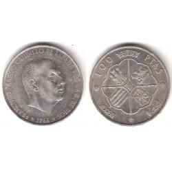 Estado Español. 1966*(19-66). 100 Pesetas (BC) (Plata)