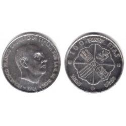 Estado Español. 1966*(19-67). 100 Pesetas (MBC) (Plata)