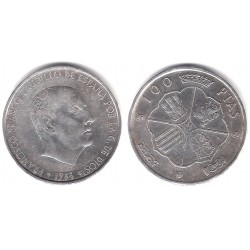 Estado Español. 1966*(19-67). 100 Pesetas (BC) (Plata)