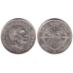 Estado Español. 1966*(19-68). 100 Pesetas (MBC) (Plata)