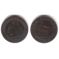 Gobierno Provisional. 1870. 2 Céntimos (BC) Ceca de Barcelona OM