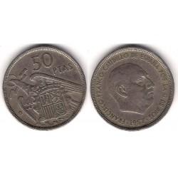 Estado Español. 1957*(58). 50 Pesetas (BC)