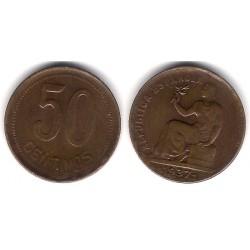 España (II República). 1937*(---). 50 Céntimos (MBC)