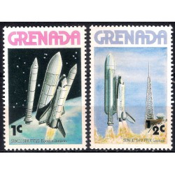 Grenada. Sin Fecha. 1 & 2 Cents. Transbordador Espacial (Nuevo)